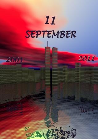 hijacker: World Trade Center y el cielo rojo, new-york