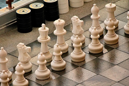 checkmate white and black photo