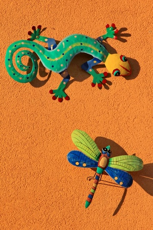 lizard and butterfly photo