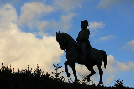 napoleon: Napoleon and horse and sky blue