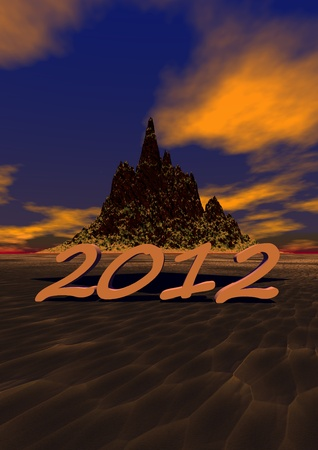 2012 and mountain Stock Photo - 11733327