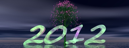 2012 and tree Stock Photo - 11733314