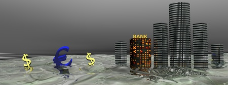 euro and buildings photo