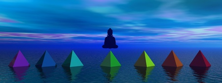 pyramids chakras Stock Photo - 12394196
