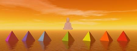 nymphaea: chakras and buddha