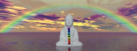 rainbow and chakras Stock Photo - 12394199