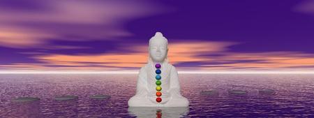 3d aum: buddha and chakras