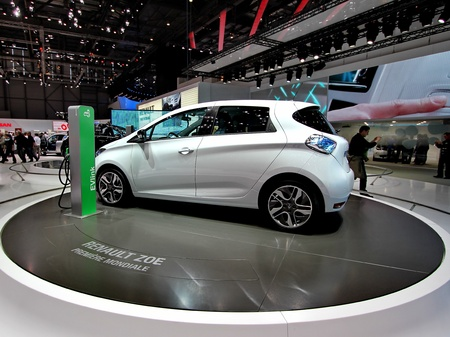 GENEVA / MARCH 16 A Renault ZOE on display at the 82nd  international motor show Palexpo-Geneva on march 16;2012 in Geneva Stock Photo - 12818867