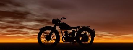 op maat: motor en de hemel Stockfoto