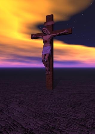 Golgotha and cross