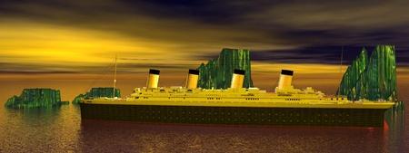Titanic 1912-2012 and icebergs photo