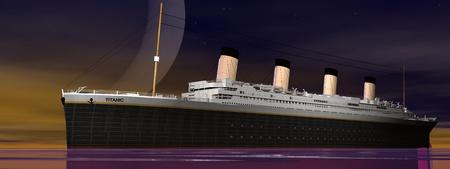titanic: Titanic 1912-2012 et de la lune Banque d'images