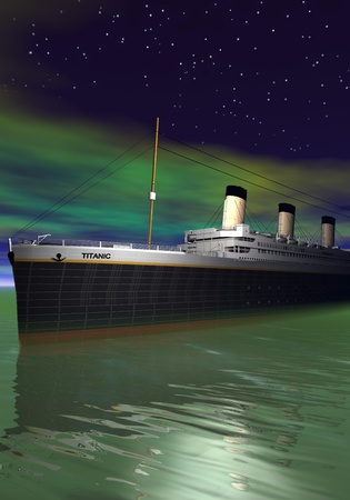 Titanic 1912-2012 and sea photo