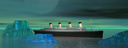 Titanic and iceberg photo