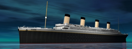 Titanic and sky blue