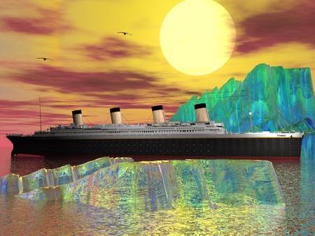 Titanic and iceberg Stock Photo - 13194519