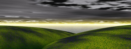 hills and sea Stock Photo - 13440375