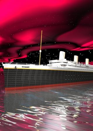titanic: Titanic 1912 - 2012 et le ciel rose Banque d'images