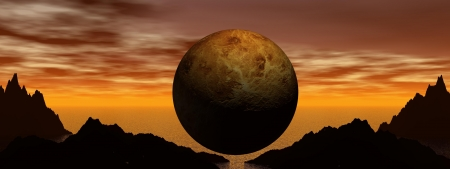 volcano and planet Stock Photo - 14266089