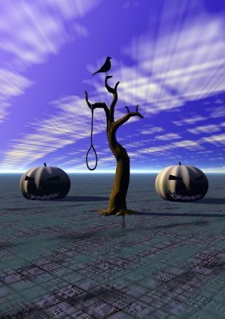 halloween and tree and bird photo