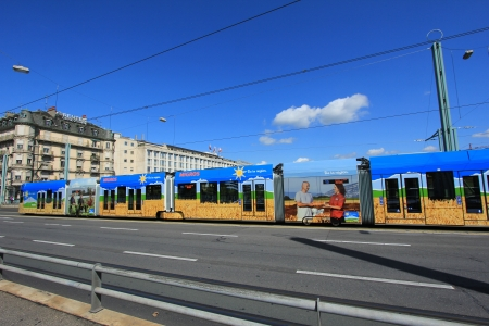 tramway: tramway and sky blue