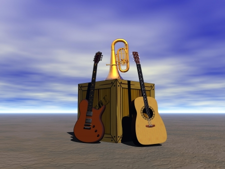 guitar and music  photo