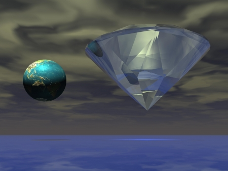 diamond and planet world photo