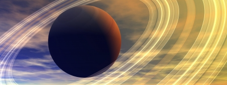 saturn planet and cloud Stock Photo - 15892941