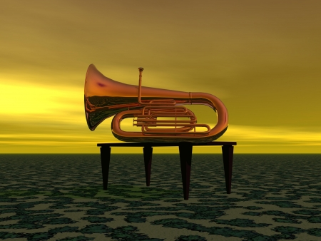 music and trumpet photo