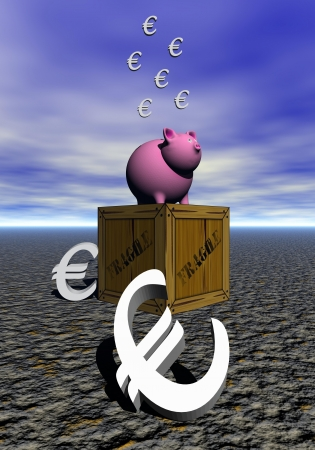 pig pink and euro photo