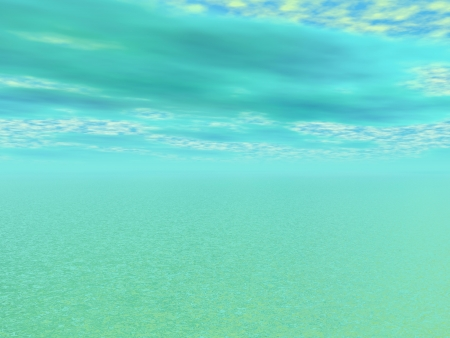 sky and sea green photo