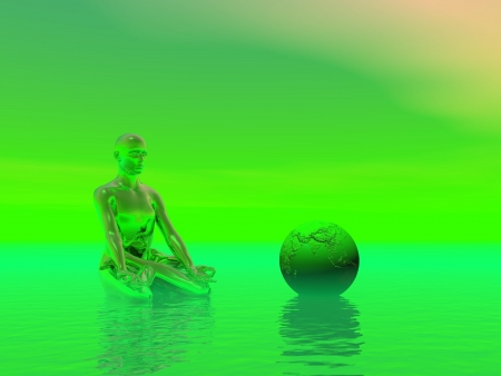 chakra green photo