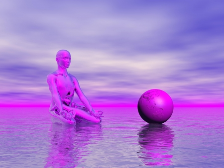 chakra purple photo