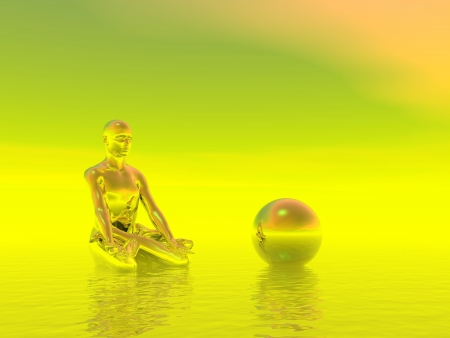 chakra yellow Stock Photo - 16798700
