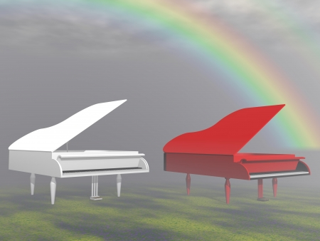 piano and sky photo