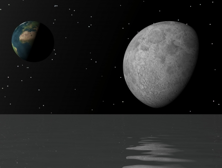 moon and earth photo