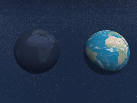 brasilia: earth blue and black