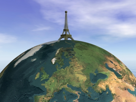 Paris and earth and sky photo