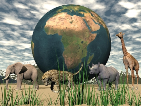 earth africa and animals Banque d'images