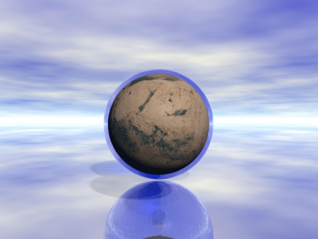 planet mars and water Stock Photo - 17279867
