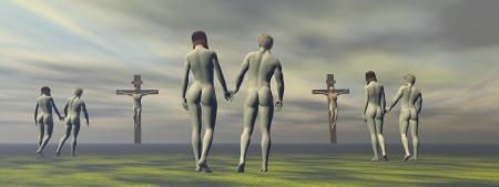 cross grey and men and women
