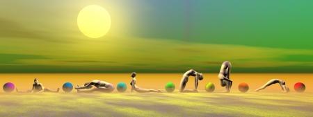 yoga and chakras Stock Photo - 18382421