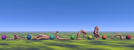 yoga and chakras Stock Photo - 18382432