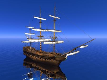 boat merchant and sky blue photo
