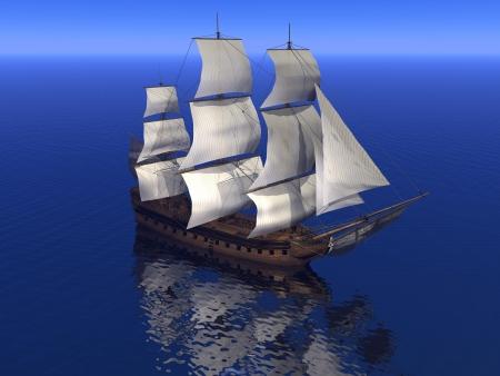 caravelle: marchand de bateau et l'oc�an