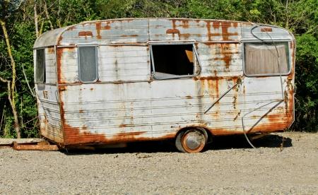 caravan white and brown