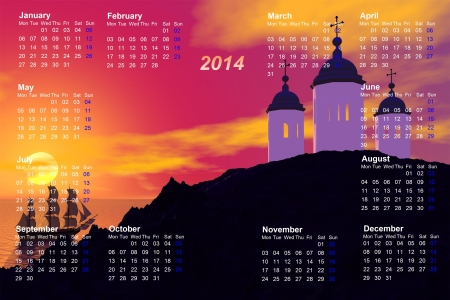 calendar 2014 greece photo
