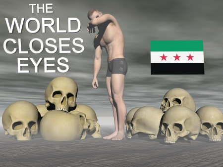 assad: syria flag free Stock Photo