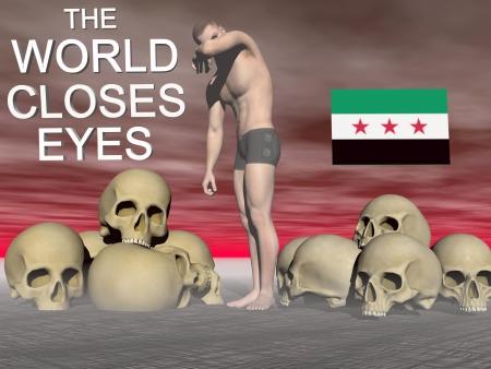 syria flag free Stock Photo