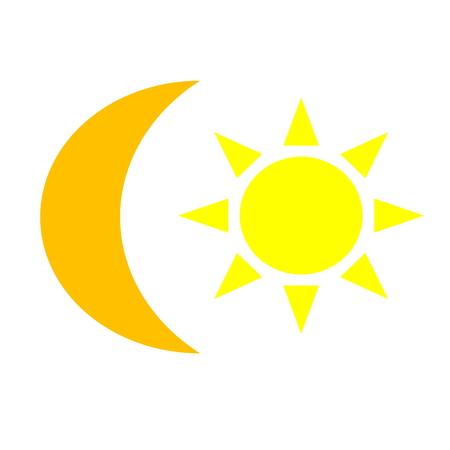 sun yellow and moon orange Stock Photo - 22851738